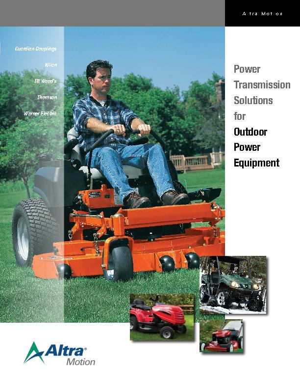 Power Transmission Solutions for Outdoor Power Equipment