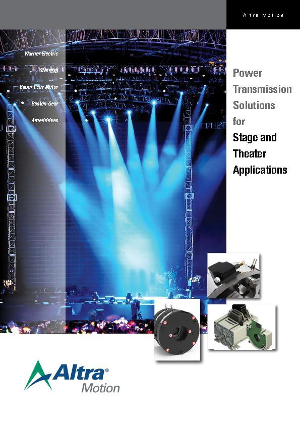 (A4) Power Transmission Solutions for Stage and Theater Applications