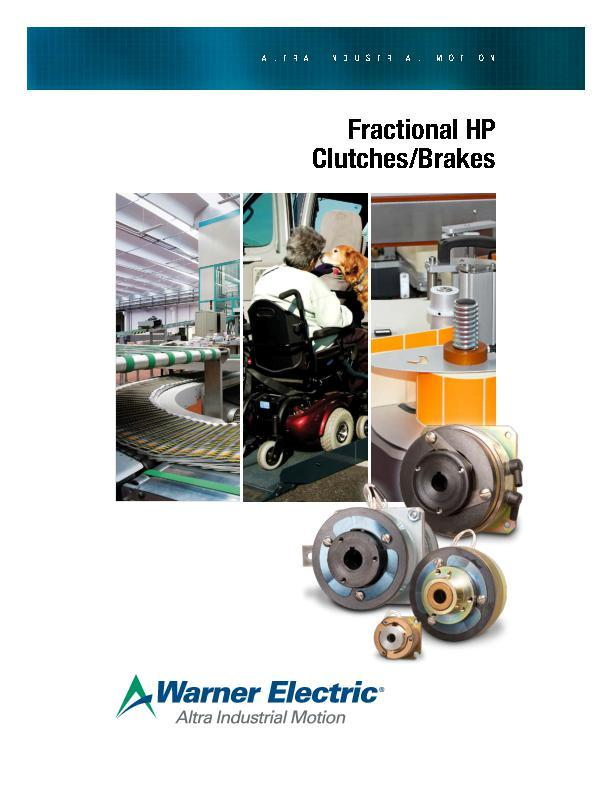Fractional HP Clutches/Brakes