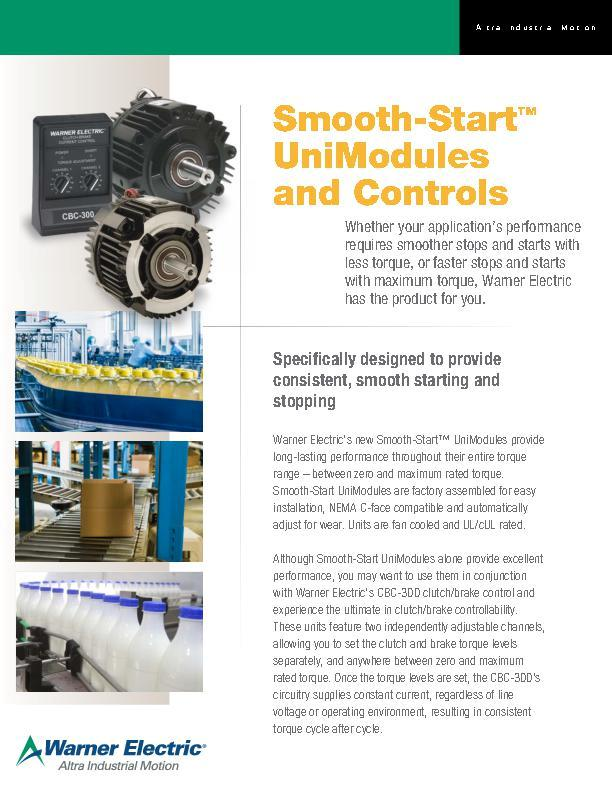 Smooth-StartTM Unimodules and Controls