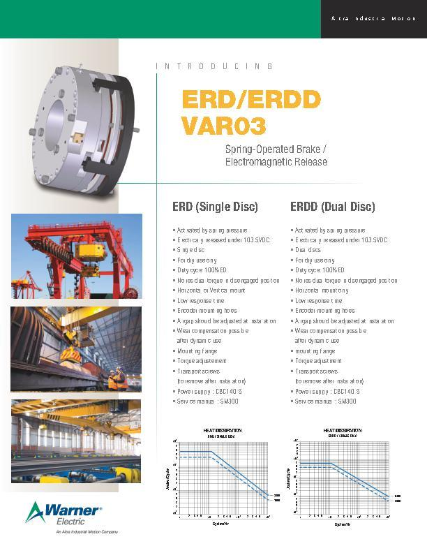 ERD/ERDD VAR03 Spring-Operated Brake / Electromagnetic Release