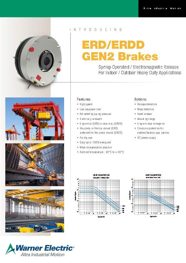 ERD/ERDD Gen2 Brakes Spring-Operated / Electromagnetic Release for Indoor/ Outdoor Heavy Duty Applications