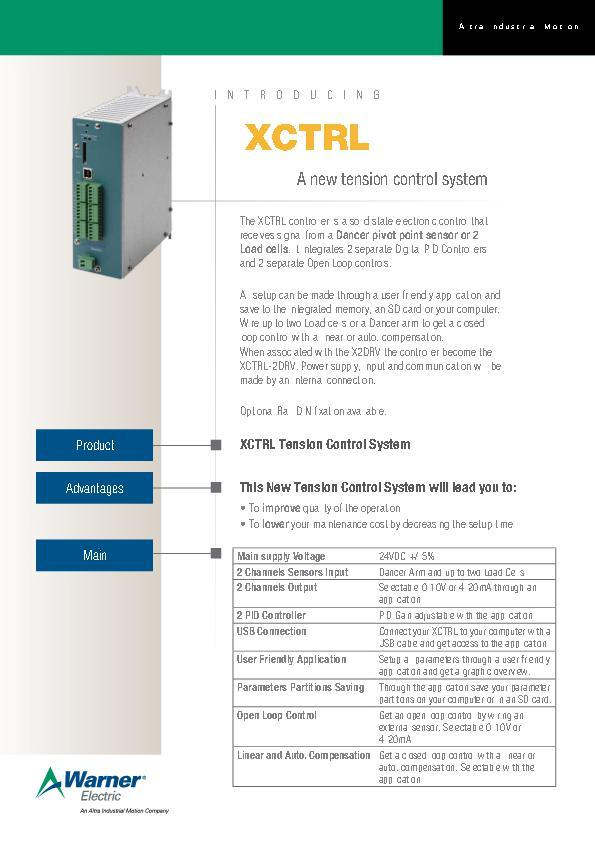 (A4) XCTRL A new tension control system