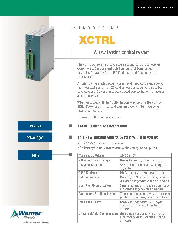 XCTRL A new tension control system