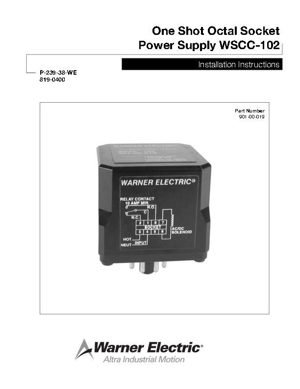 One Shot Octal Socket Power Supply WSCC-102 Installation