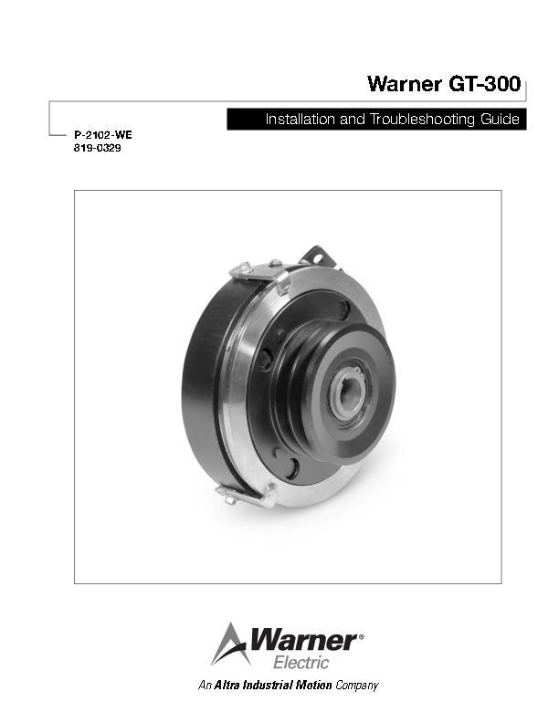 Warner GT-300 Installation and Troubleshooting Guide