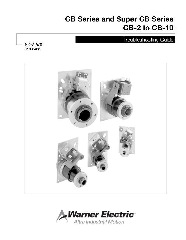 CB & Super CB Series Sizes 2, 4, 5, 6 & 8 Troubleshooting Guide